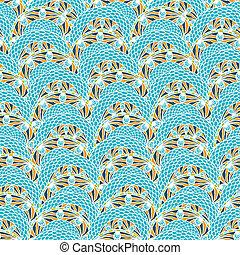 ベクトル, 装飾, ラウンド, pattern., カラフルである, seamless, 民族性