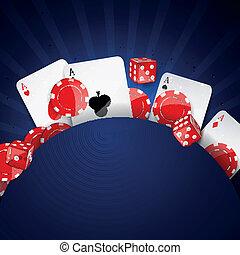ベクトル, 要素, カジノ
