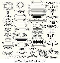 ベクトル, 要素, コレクション, デザイン, 型