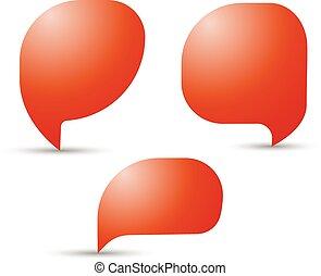 ベクトル, 議論, chatting., コミュニケーション, 泡, スピーチ, 話