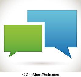 ベクトル, 議論, chatting., コミュニケーション, 2, 泡, 重なり合う, スピーチ, 話
