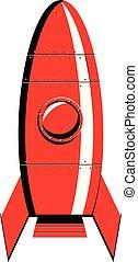ベクトル, 赤いロケット, アイコン