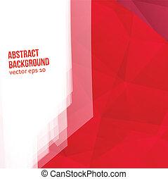 ベクトル, 赤, polygons., 抽象的, 背景