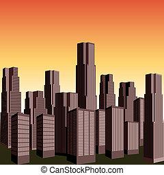 ベクトル, 超高層ビル