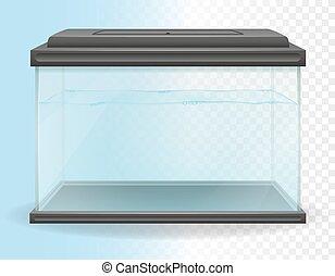 ベクトル, 透明, イラスト, 水族館