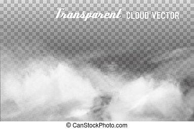 ベクトル, 透明, バックグラウンド。, 雲