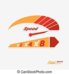 ベクトル, 速度計, スケール