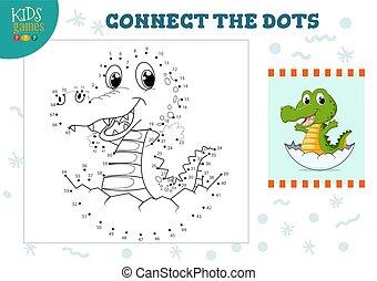 ベクトル, 連結しなさい, 点, ゲーム, 子供, イラスト