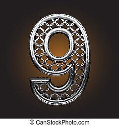 ベクトル, 金属, 数字