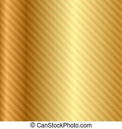 ベクトル, 金, 背景, ストライプ