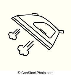 ベクトル, 鉄, icon-, 蒸気, イラスト