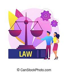 ベクトル, 離婚, illustration., サービス, 概念, 弁護士, 抽象的