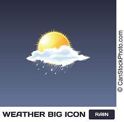 ベクトル, 雨, アイコン