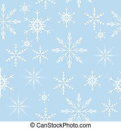 ベクトル, 雪片, seamless, イラスト, バックグラウンド。