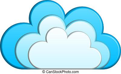 ベクトル, 雲, イラスト