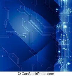 ベクトル, 電気である, 抽象的, 工学, 未来, 背景, 技術
