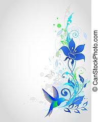 ベクトル, 青い背景