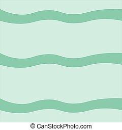 ベクトル, 青, バックグラウンド。, sea., ライン, 波