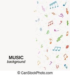 ベクトル, 音楽, 背景