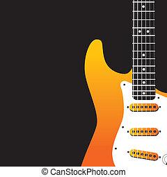 ベクトル, 音楽, 背景, guitar/bird