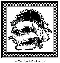 ベクトル, 頭骨, 帽子, 身に着けていること, 煙が出ている葉巻き