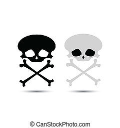 ベクトル, 頭骨 crossbones