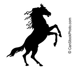ベクトル, 馬, シルエット