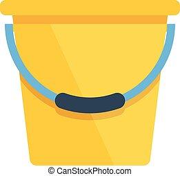 ベクトル, 黄色, バケツ