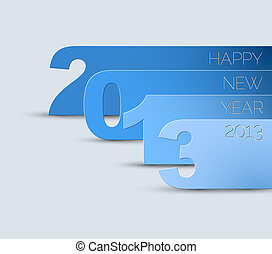 ベクトル, 2013, 年, 新しい, カード, 幸せ
