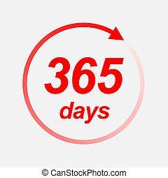 ベクトル, 365, アイコン, 日々