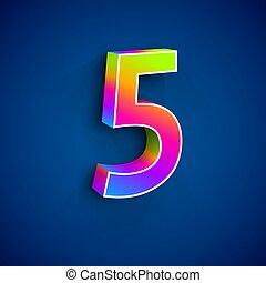 ベクトル, 5, 数, 3d