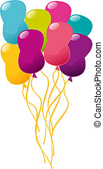 ベクトル, balloons., イラスト, 多彩