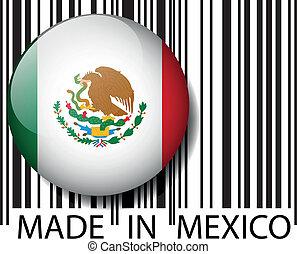 ベクトル, barcode., 作られた, イラスト, メキシコ\