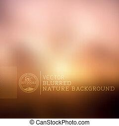ベクトル, blurry 背景, 自然