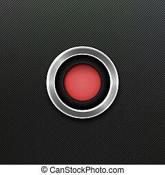 ベクトル, button., 赤
