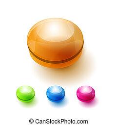 ベクトル, buttons.