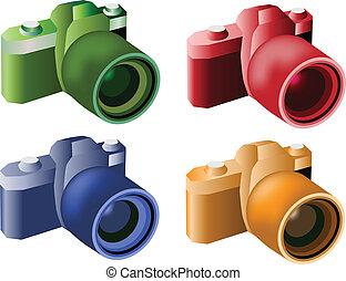 ベクトル, cameras, デジタル