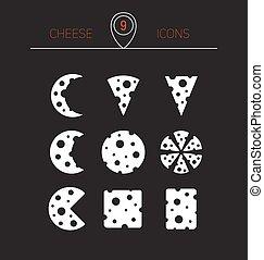 ベクトル, cheese., イラスト