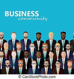 ベクトル, community., l, ビジネス, 政治, ∥あるいは∥, 平ら, イラスト