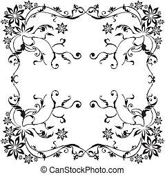 ベクトル, -, decorativ, ブランチ