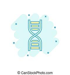 ベクトル, dna, ビジネス, medecine, concept., 分子, 効果, イラスト, 印, はね返し, ...