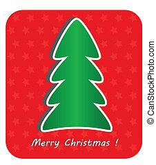 ベクトル, eps10, 現代, 木, イラスト, 背景, クリスマス, 赤