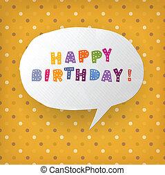 ベクトル, eps10, 贈り物, イラスト, birthday, template., カード, 幸せ