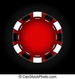 ベクトル, gambling., チップ, casino., illustration.