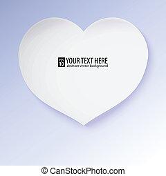 ベクトル, heart., イラスト, ∥含んでいる∥, 挨拶, effects., ペーパー, gradients, カード
