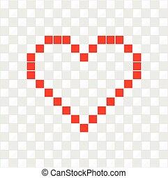 ベクトル, heart., ピクセル