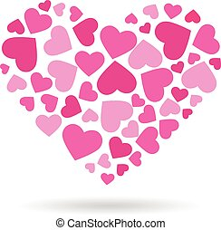 ベクトル, heart., 心, ロゴ, 大きい, 愛, デザイン