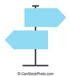 ベクトル, icon., 道標, 96x96, pictogram, 単純である, 最小である