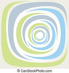 ベクトル, illustrati, らせん状に動きなさい, 背景