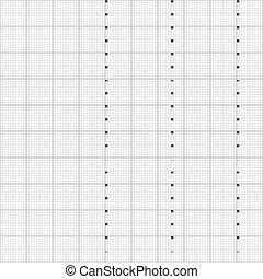 ベクトル, illustration., グラフ, ミリメートル, ペーパー, 格子
